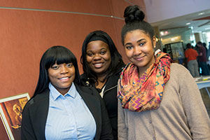 photo of students at a reception
