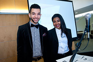 photo of two student presenters