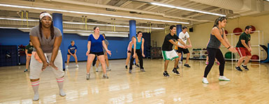 photo of students in a fitness class