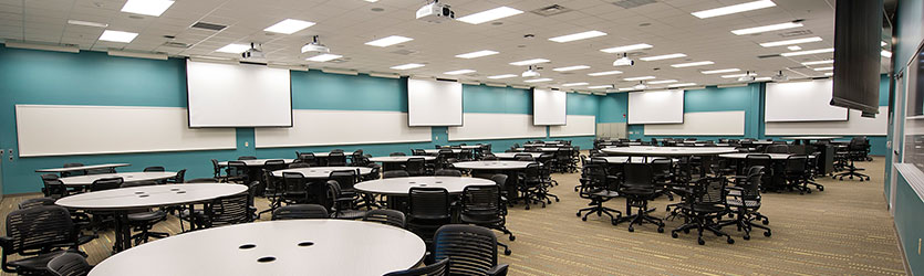 photo of an active learning classroom