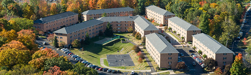 aerial photo of housing at wright state