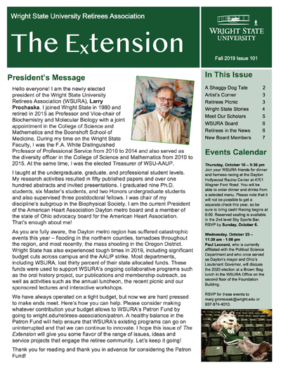 Extension 102, Fall 2019