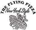 Flying pizza logo