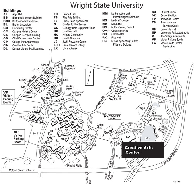 creative arts center map