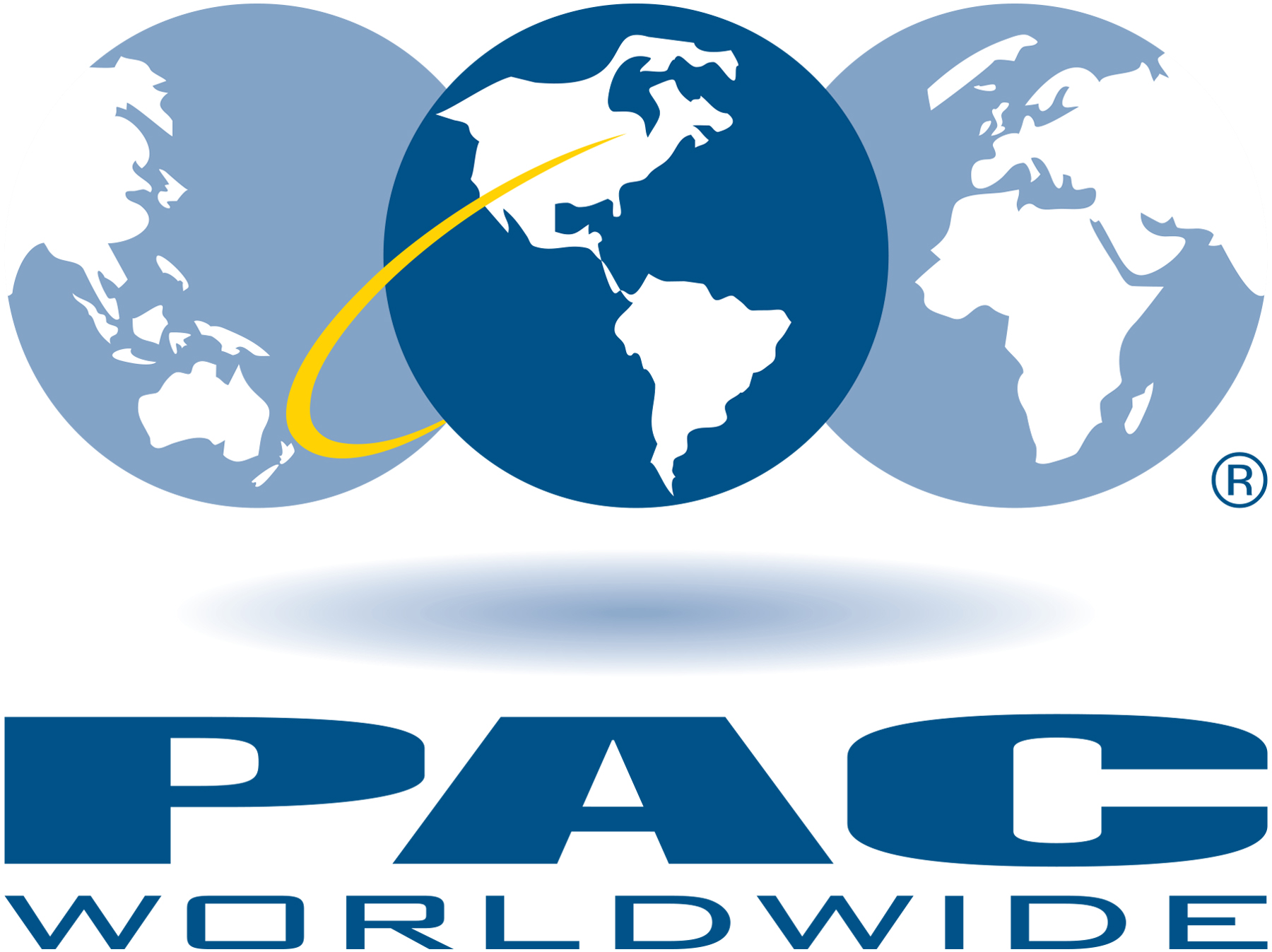 PAC worldwide logo with globe