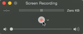 Quicktime - Screen Record Button