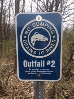 Stormwater Outfall Sign