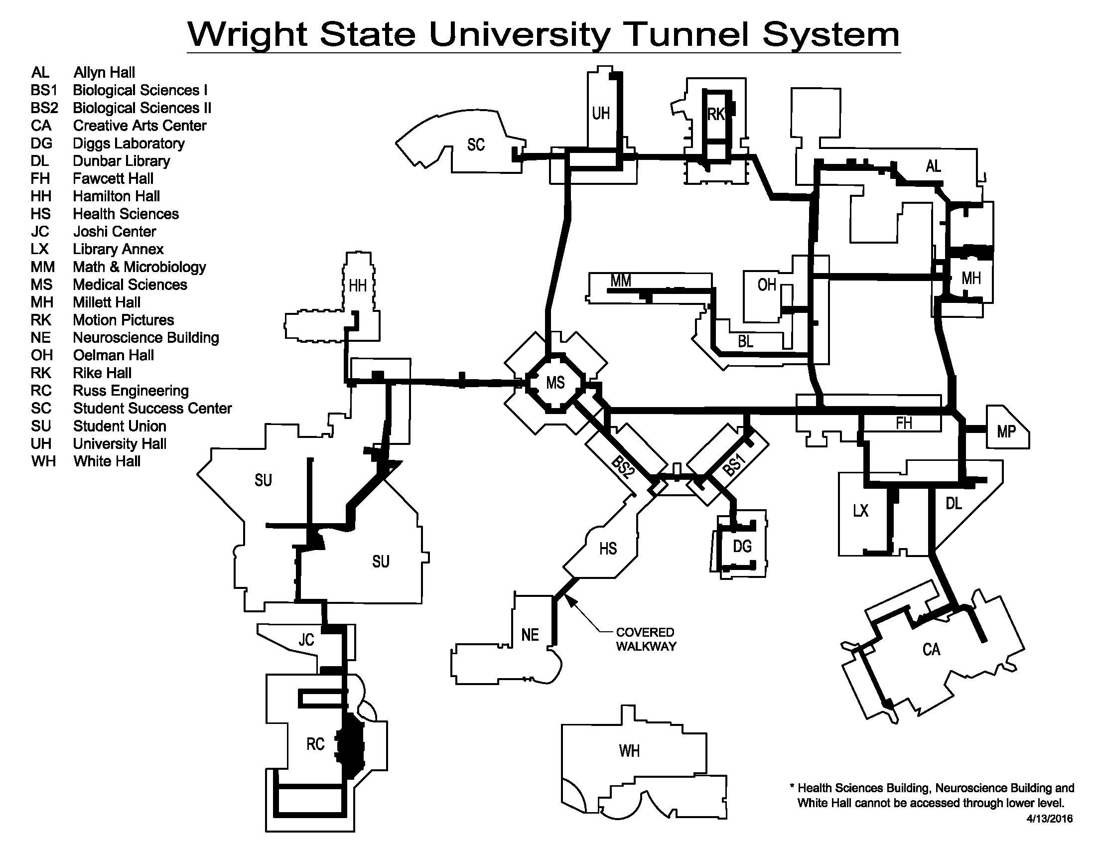Wright State University Campus Map