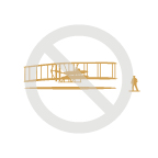 Wright State Violation - separating biplane and/or Wilber Wright figure