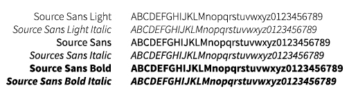 Wright State primary typeface - Source Sans