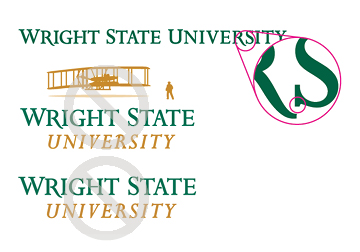 Wright State Violation - former branding assets
