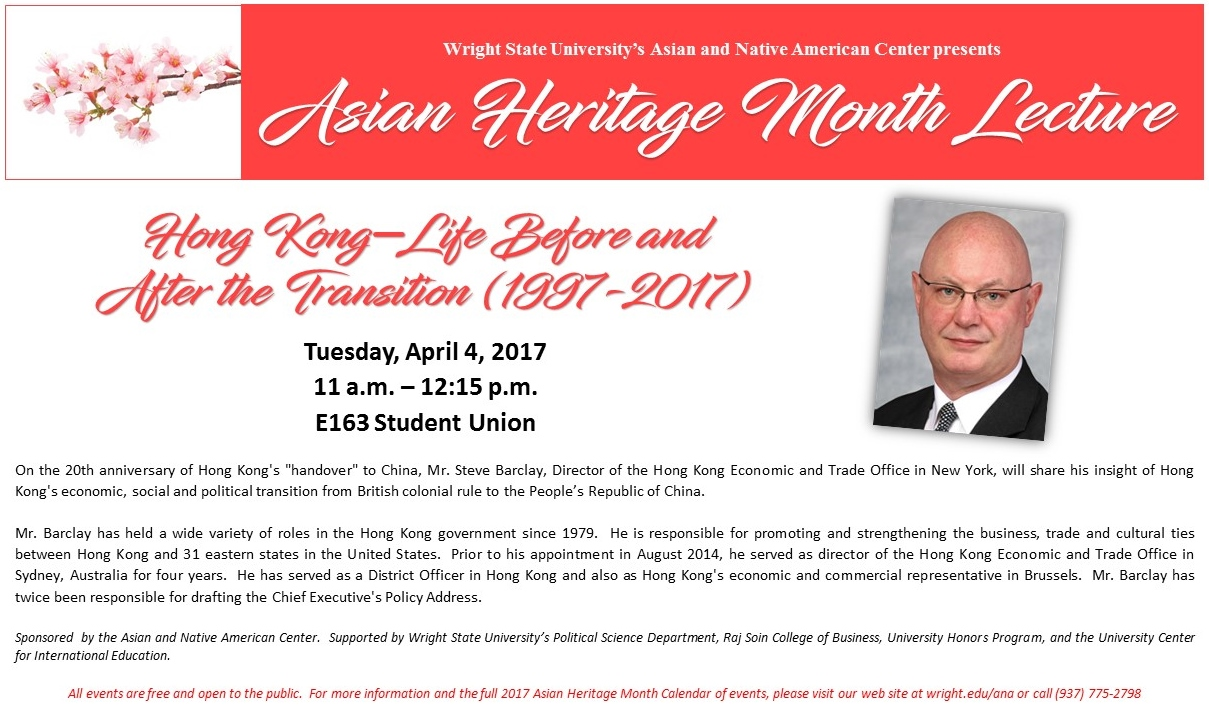 wright state asian heritage month barclay lecture