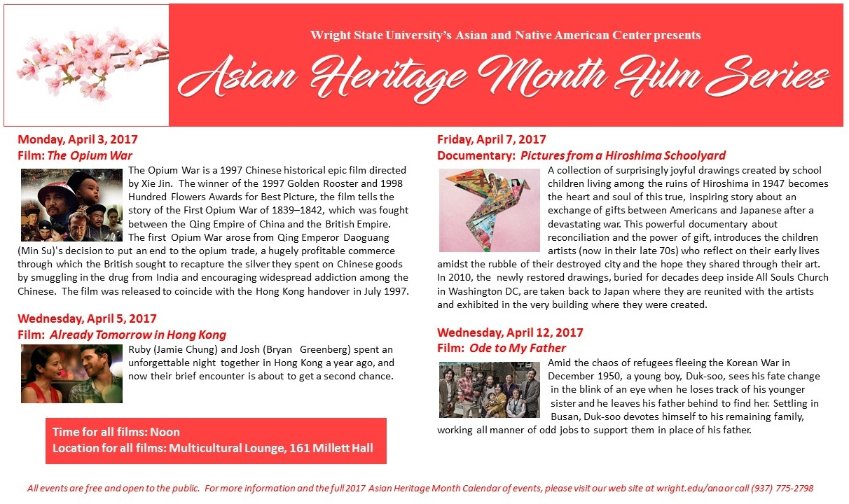 wright state asian heritage month film series