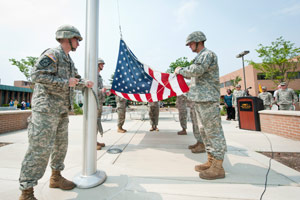 Army ROTC Flag Raising