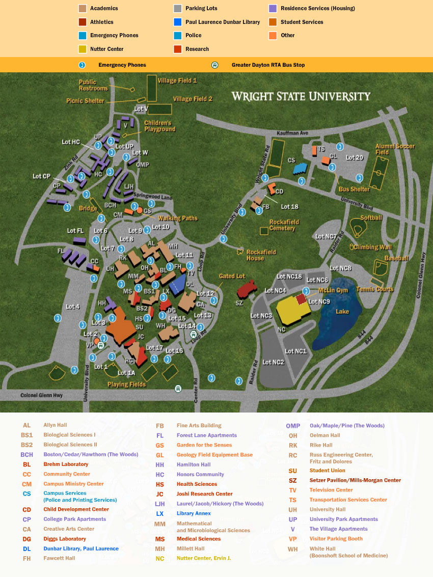 Color Campus Map