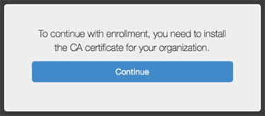 screen capture of the casper ca certificate window
