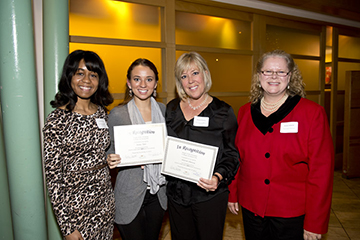 Ashley Long (DDN), Jaime Tate, Sharon Chaney, and Dean Kristin Sobolik