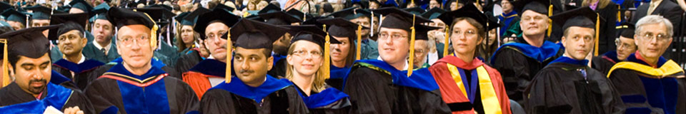 photo of faculty at commencement