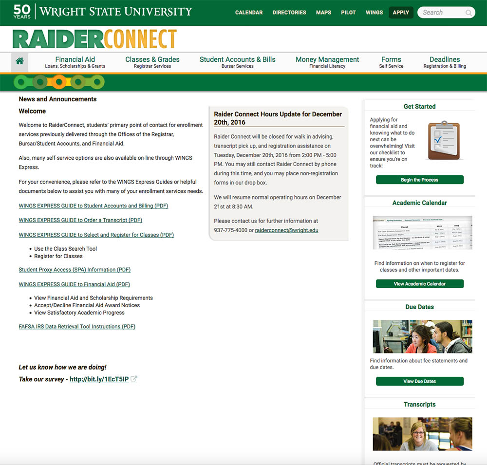 Raider Connect Homepage Old