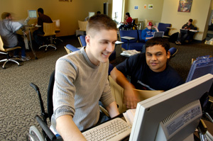 photo of students in a computer lab