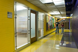 photo of students walking the student union
