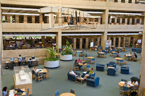 photo of students in the library