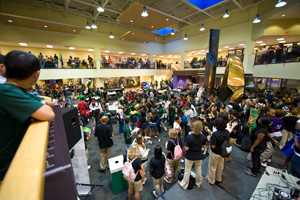 photo of students in the student union