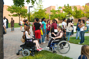 photo of students at fall fest
