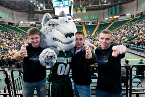 photo of students with rowdy