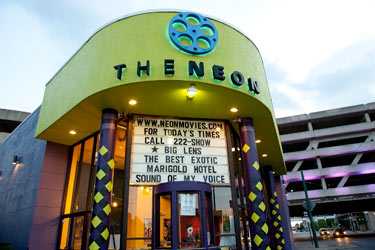photo of the neon theater