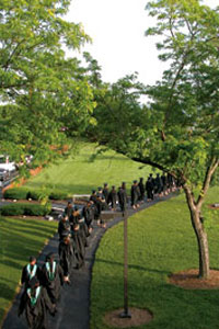 photo of commencement at lake campus