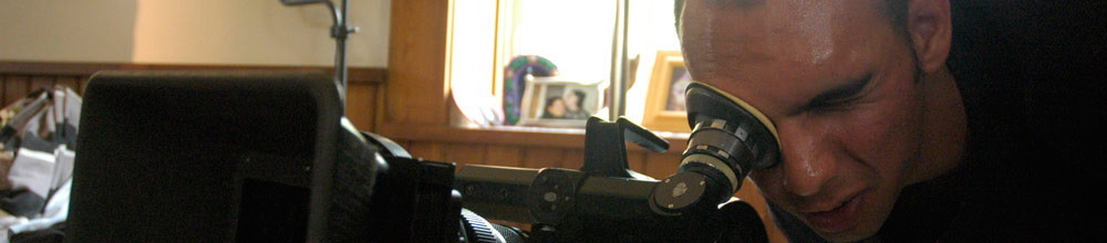 photo of a motion pictures student filming