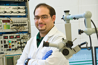photo of a researcher in a lab