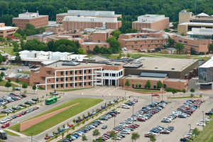 ariel photo of campus