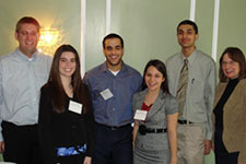 photo of members of the student honors association and staff members