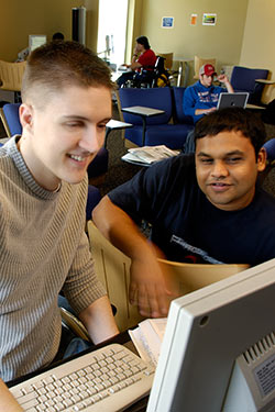 photo of a student and a tutor