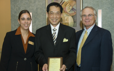 2006 International Education Award Recipient was Andrew Lai,Ph.D., Professor Emeritus, Interim Chair of the Department of Inform