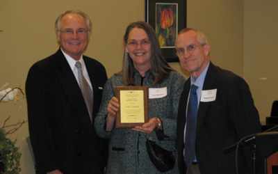 Carol Cornett, Director of the LEAP intensive English program was awarded the International Education Award for 2007.
