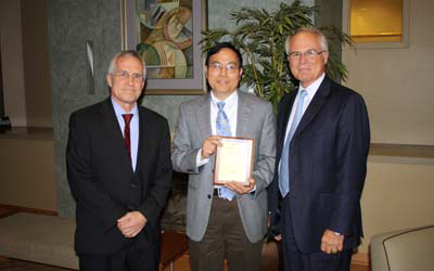 Dr. Lang Hong, Ph.D., Associate Dean in the College of Engineering and Computer Science, was awarded the International Education