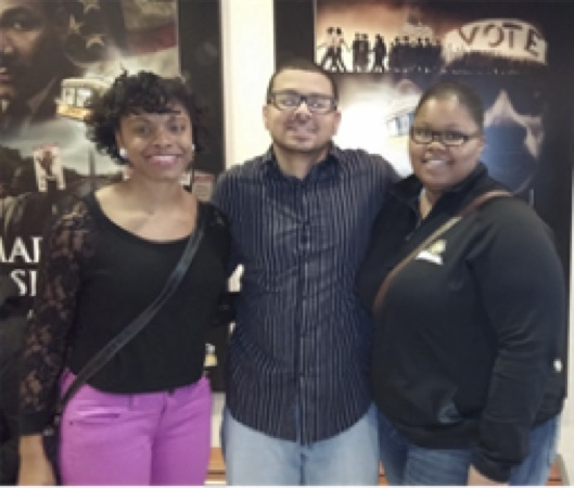 The Civil Rights Pilgrimage, Spring 2015:  Tristina Allen, Carl Foster and Vicky Lindsey, ISN Students