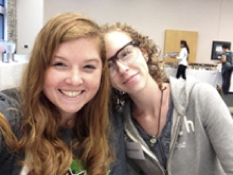 Welcome Reception, Summer 2014: Katherine Nevils, SAHE GA and Abby O'Connor, ISN Student