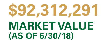 Market value (as of 6/30/18): $92,312,291