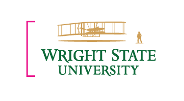 Wright State University primary logo - The height may not drop below .5 in.