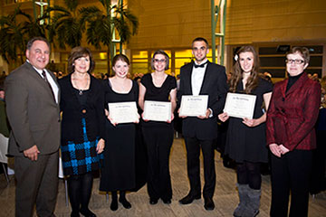 photo of morris home furnishings artsgala scholarship recipients