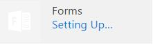 screen capture of the office365 forms icon before setting up