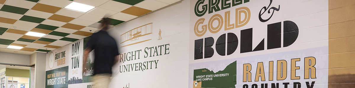 photo of the student union hallway mural