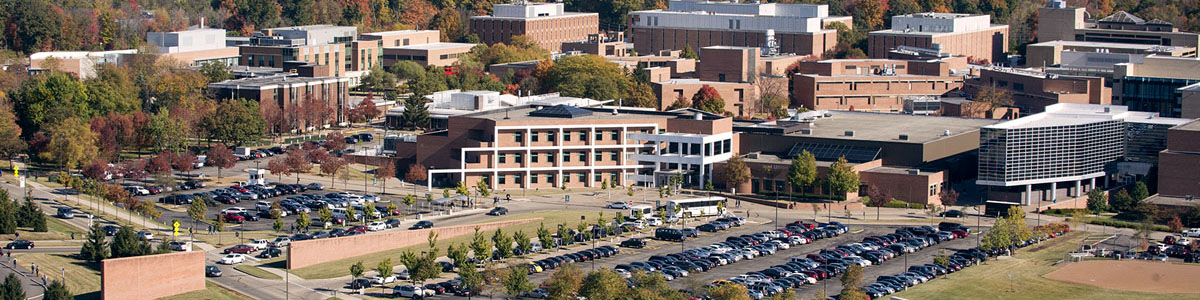 Aerial Fall short of Wright State University's Main campus