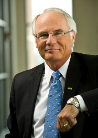 photo of president david r hopkins