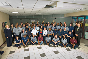 photo of the custodial services staff