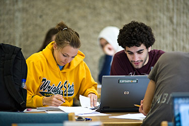 photo of students using a laptops2go laptop